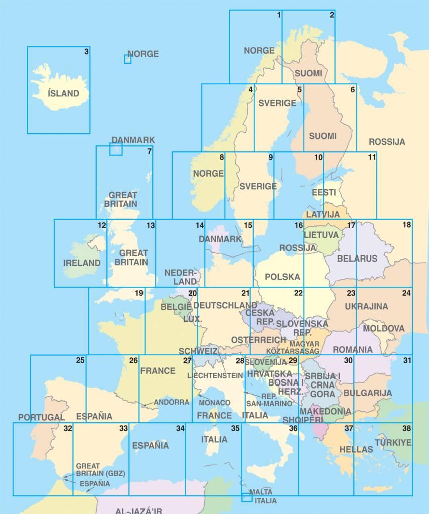 Falk Routiq autokaart Europa Tab Map, picture 91998656