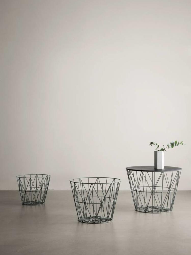 ferm LIVING Ferm Living Wire Basket Top Oiled Oak Large