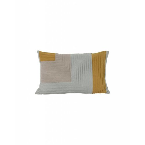 ferm LIVING Angle Knit Cushion - Curry