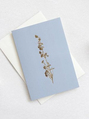 Ola Foil Blocked Card Botanical Collection - Heather