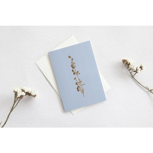 Ola Ola Foil Blocked Card Botanical Collection - Heather