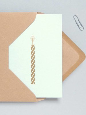 Ola Ola Foil Blocked Cards: Candle Mint/Brass