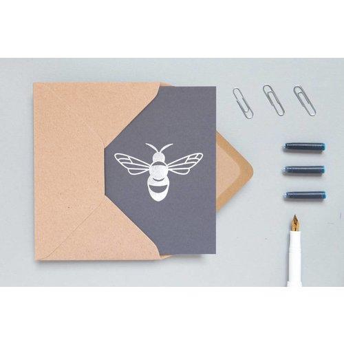 Ola Ola Foil Blocked Cards: Bee Grey/Silver