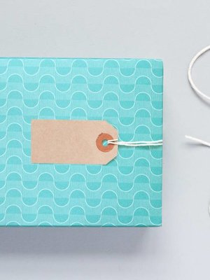 Ola Patterned Papers: Wave Print Turquoise