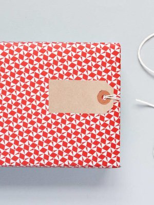 Ola Ola Patterned Papers: Victor Print - Red