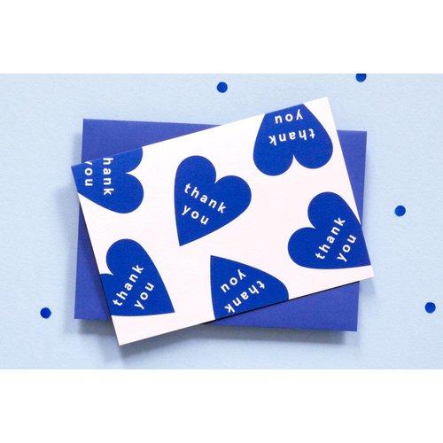 Ola OLA jr Thank You Hearts Card Greeting Card