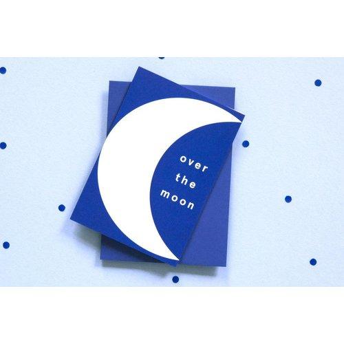 Ola OLA jr Over the Moon Greeting Card