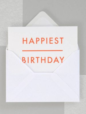 Ola Foil Blocked Fluorescent Cards: Happiest Birthday