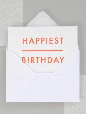 Ola Ola Foil Blocked Fluorescent Cards: Happiest Birthday