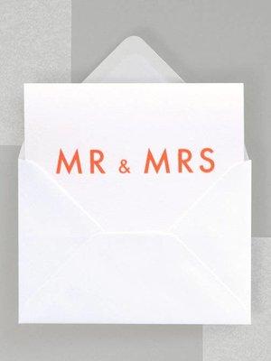 Ola Ola Foil Blocked Fluorescent Cards: Mr & Mrs