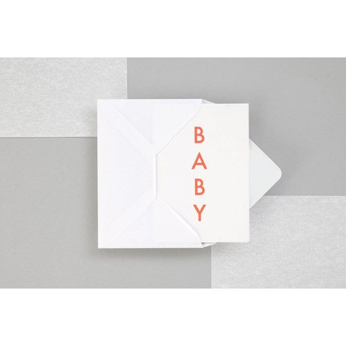 Ola Ola Foil Blocked Fluorescent Cards: BABY