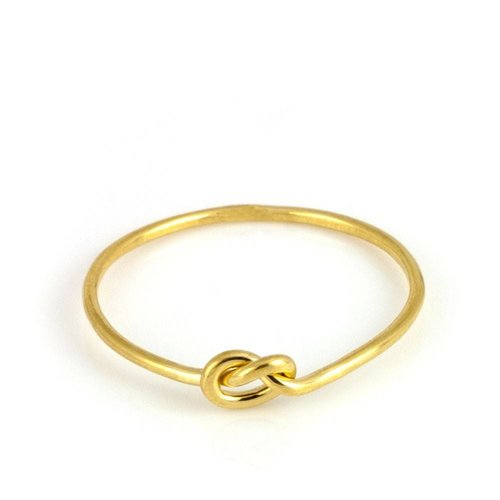 Laura Gravestock Written Knot Ring - 18ct Gold Plated Silver
