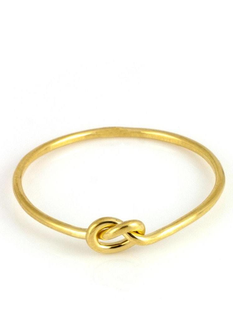 Laura Gravestock Laura Gravestock Written Knot Ring - 18ct Gold Plated Silver