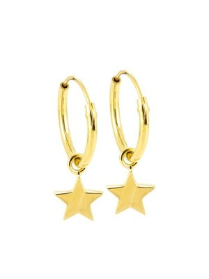 Laura Gravestock Dainty Star Hoops - Gold or Silver