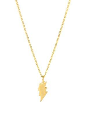 Laura Gravestock Laura Gravestock Dainty Lightning Necklace 18ct Gold Plated Silver