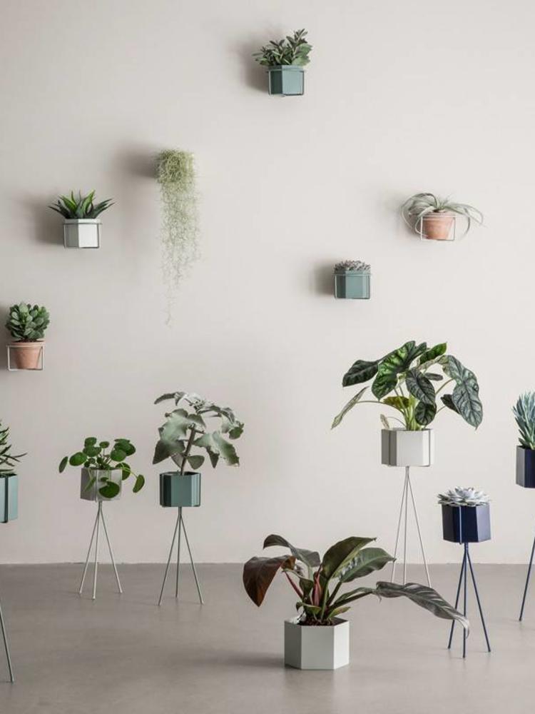 ferm LIVING Ferm Living Hexagon Pot - Dusty Green - Large