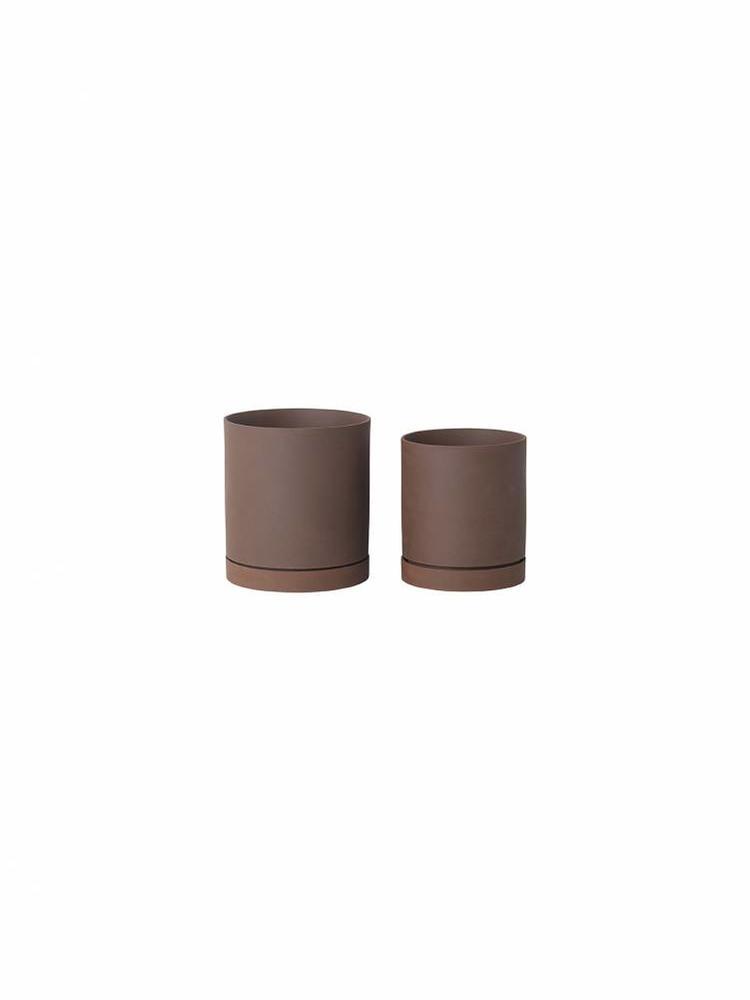 ferm LIVING Ferm Living Sekki Pot - Rust - Large