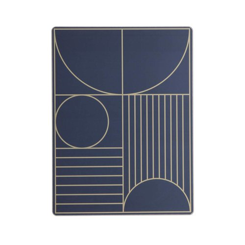ferm LIVING Outline Dinner Mat - Dark Blue