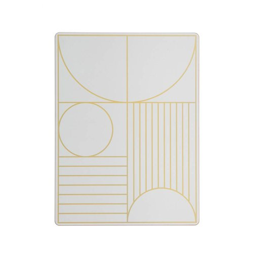 ferm LIVING Outline Dinner Mat - Off White