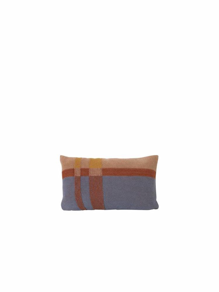 ferm LIVING Ferm Living Medley Knit Cushion - Dusty Blue - Small