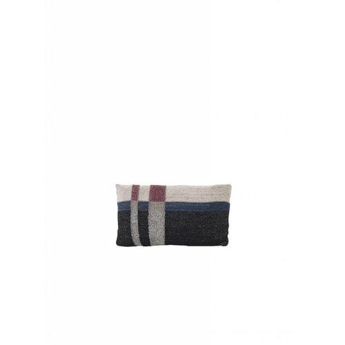 ferm LIVING Medley Knit Cushion - Dark Blue - Small