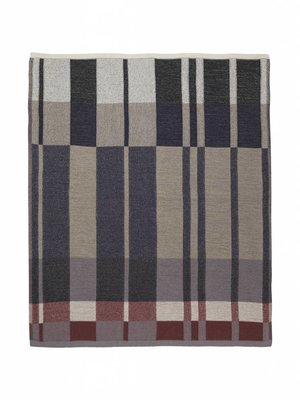 ferm LIVING Medley Knit Blanket - Dark Blue