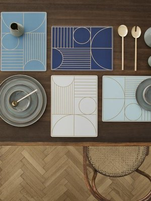 ferm LIVING Ferm Living Outline Dinner Mat - Dark Blue
