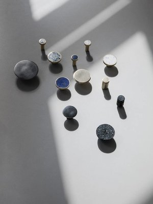 ferm LIVING Ferm Living Hook - Stone - Small - Blue Lapis Lazuli