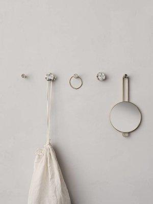 ferm LIVING Ferm Living Hook - Stone - Large - Marble White