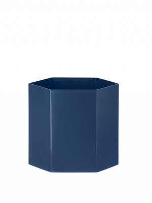ferm LIVING Hexagon Pot - Blue - Large