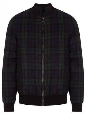 HYMN London 'DELTA' - Wool Check Bomber Coat