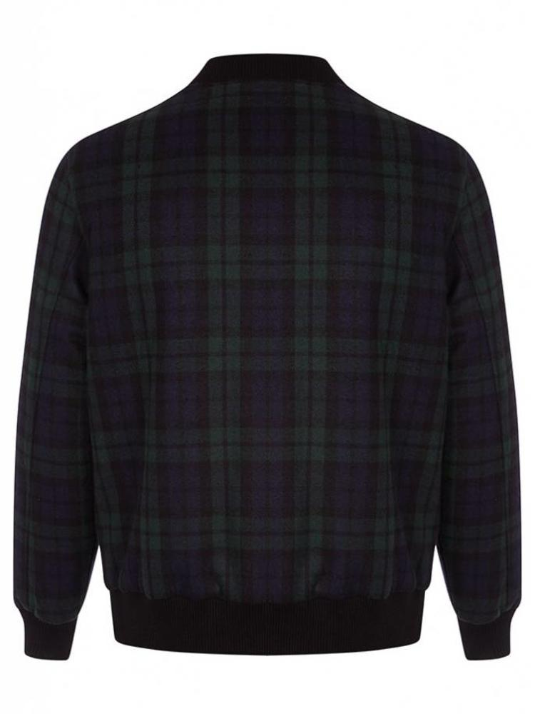 HYMN London Hymn 'DELTA' - Wool Check Bomber Coat