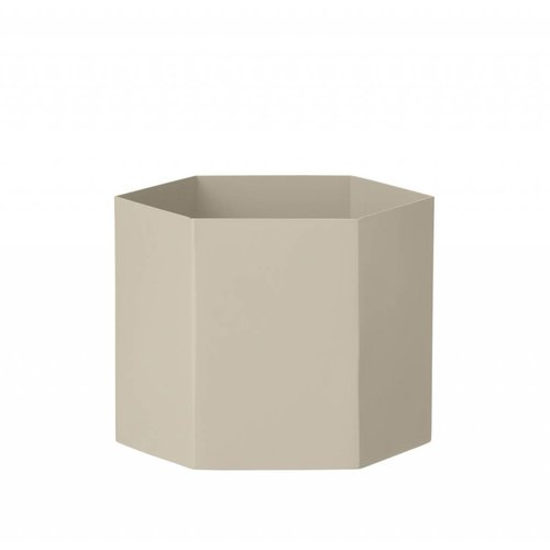 ferm LIVING Hexagon Pot - Grey - Extra Large