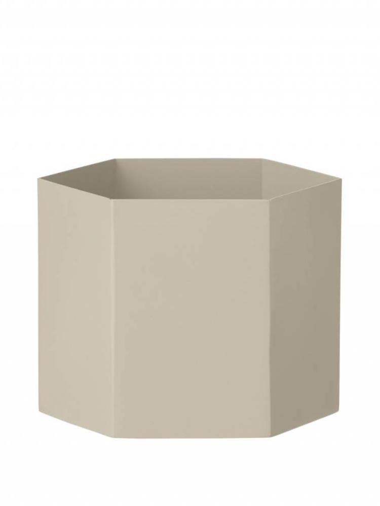 ferm LIVING Ferm Living Hexagon Pot - Grey - Extra Large