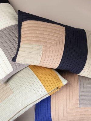 ferm LIVING ferm LIVING Angle Knit Cushion - Dark Blue