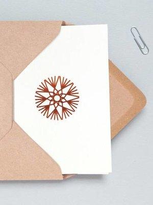 Ola Foil Blocked Cards: Ornament Stone/Copper
