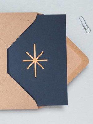 Ola Foil Blocked Cards: Star Navy/RoseGold