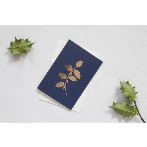 Ola Foil Blocked Card Botanical Collection - Holly