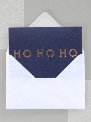 Ola Foil Blocked Fluorescent Cards: HO HO HO