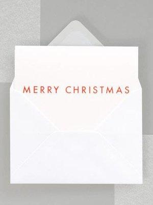 Ola Foil Blocked Fluorescent Cards: MERRY CHRISTMAS