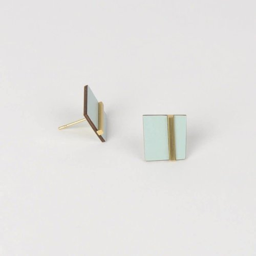 Tom Pigeon Form Earring Square