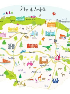 Holly Francesca Map of Norfolk A3