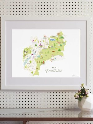Holly Francesca Holly Francesca Map of Gloucestershire A3
