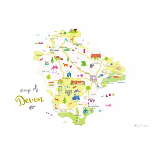 Holly Francesca Map of Devon A3