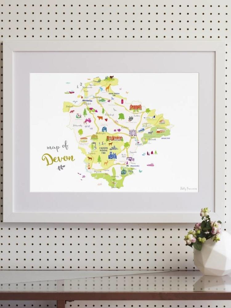 Holly Francesca Holly Francesca Map of Devon A3