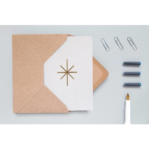 Ola Foil Blocked Cards: Star Light Grey/Brass