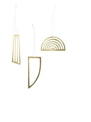 ferm LIVING Golden Ornaments - Set of 3