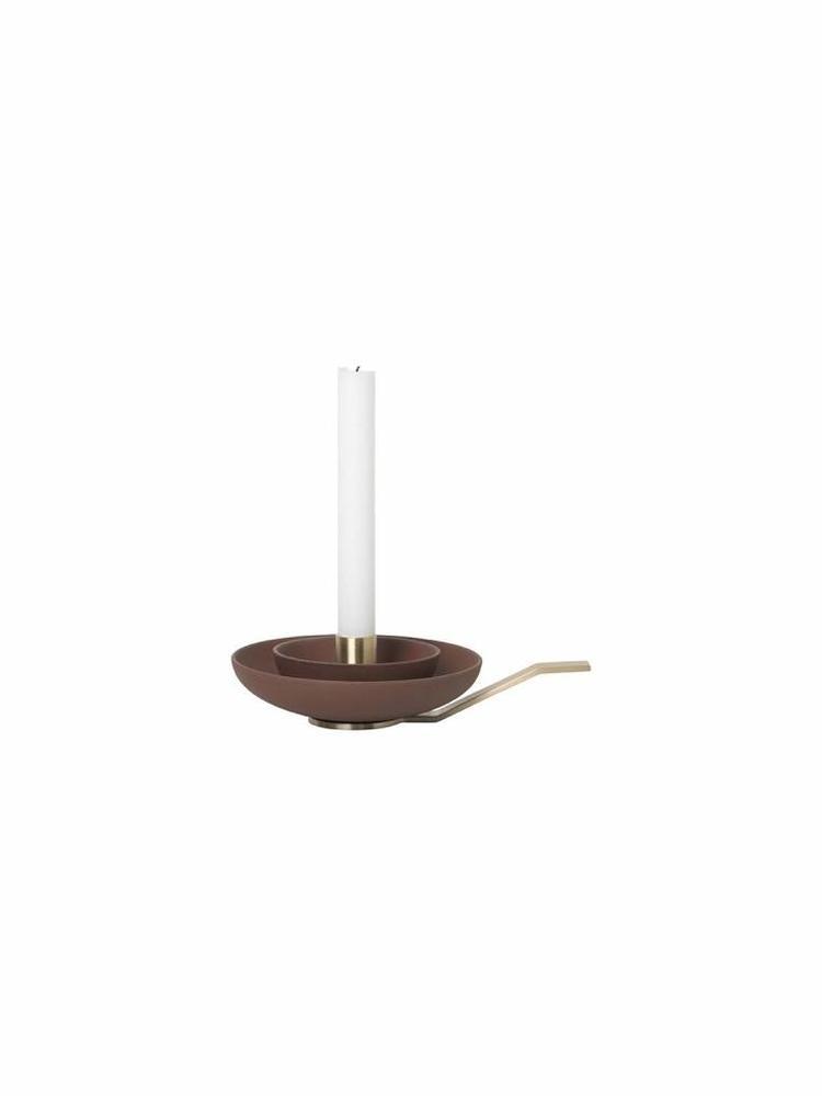 ferm LIVING Ferm Living Around Candle Holder - Rust