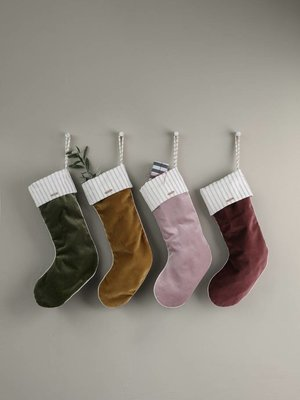 ferm LIVING Velvet Christmas Stocking