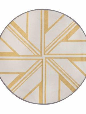 ferm LIVING Gold Star Round Floor Mat